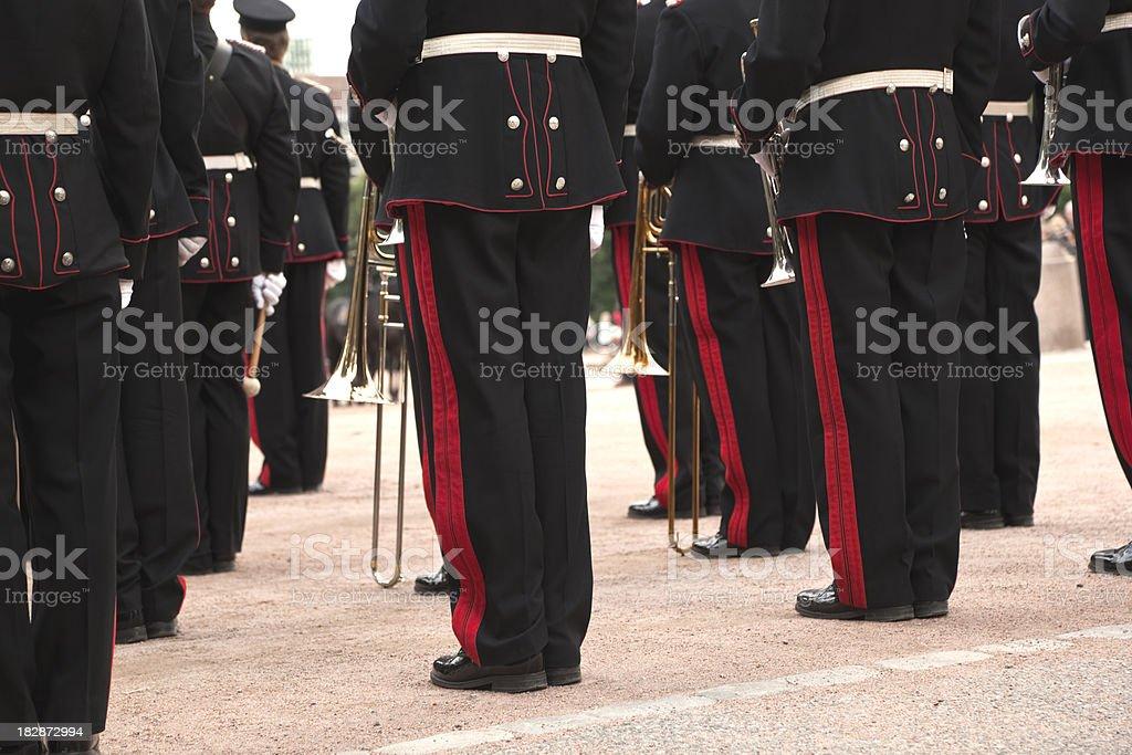 Brass band. stock photo