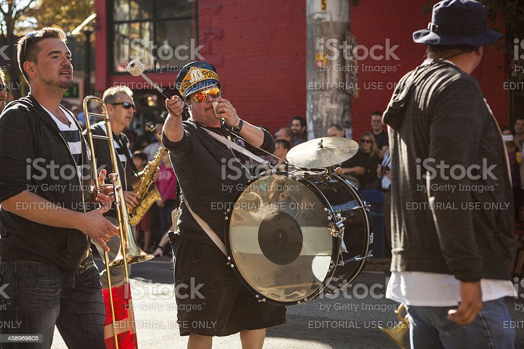 brass band The Wasted Potential stock photo