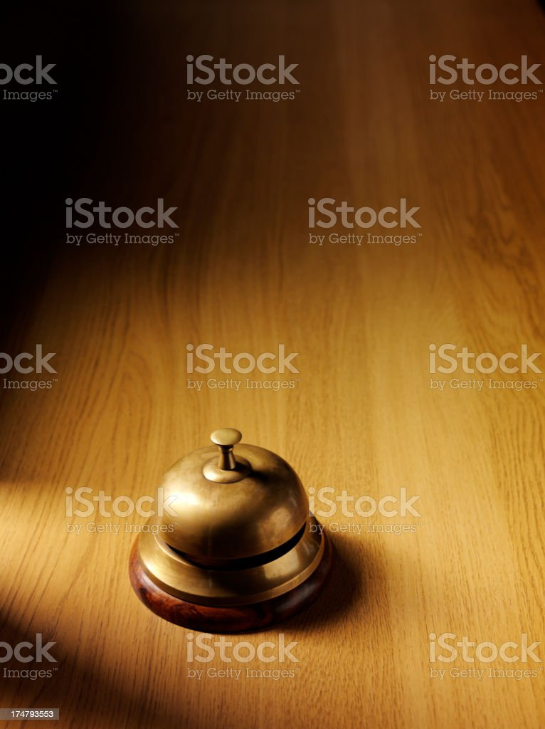 Brass Bell on a Concierge Desk royalty-free stock photo