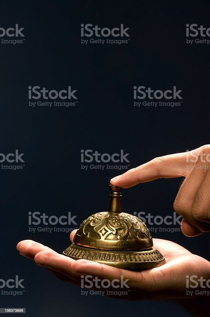 Brass Bell. royalty-free stock photo