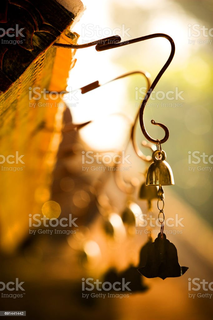 Brass bells stock photo