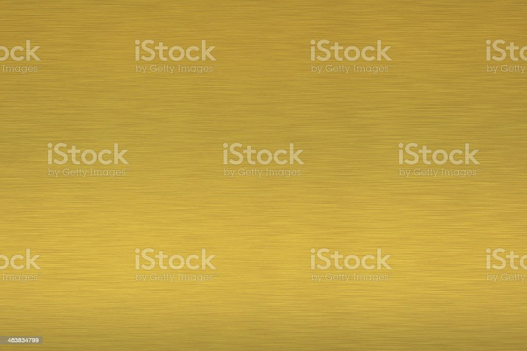 Brass brushed metal as background stock photo