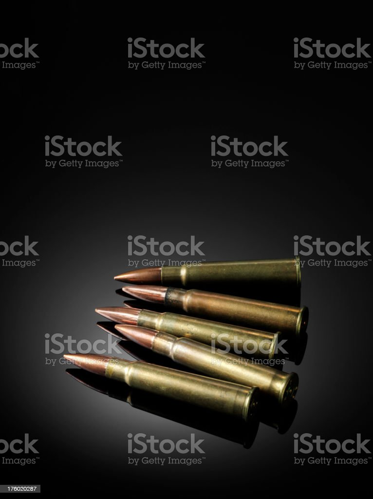 Brass Bullets royalty-free stock photo