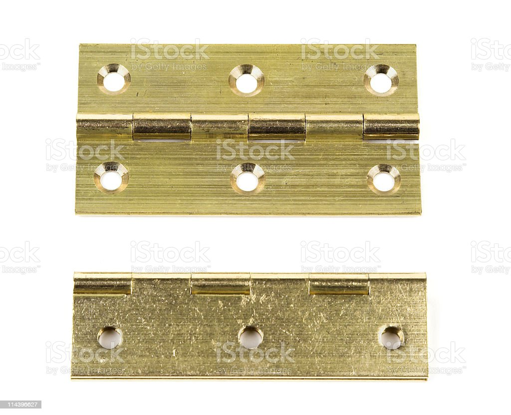 Brass Butt Hinges royalty-free stock photo