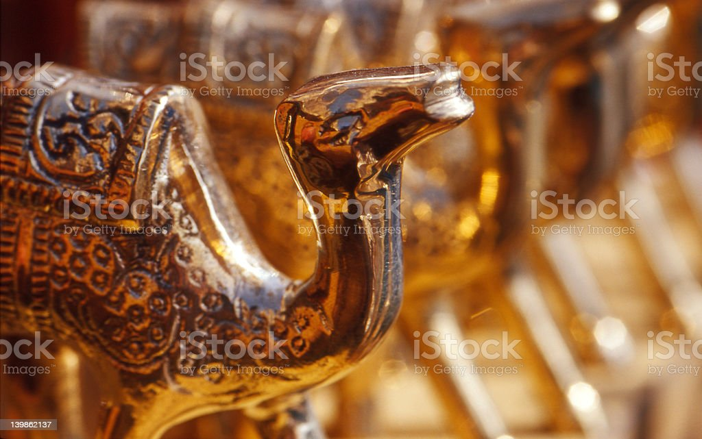 Brass Camel ornament royalty-free stock photo