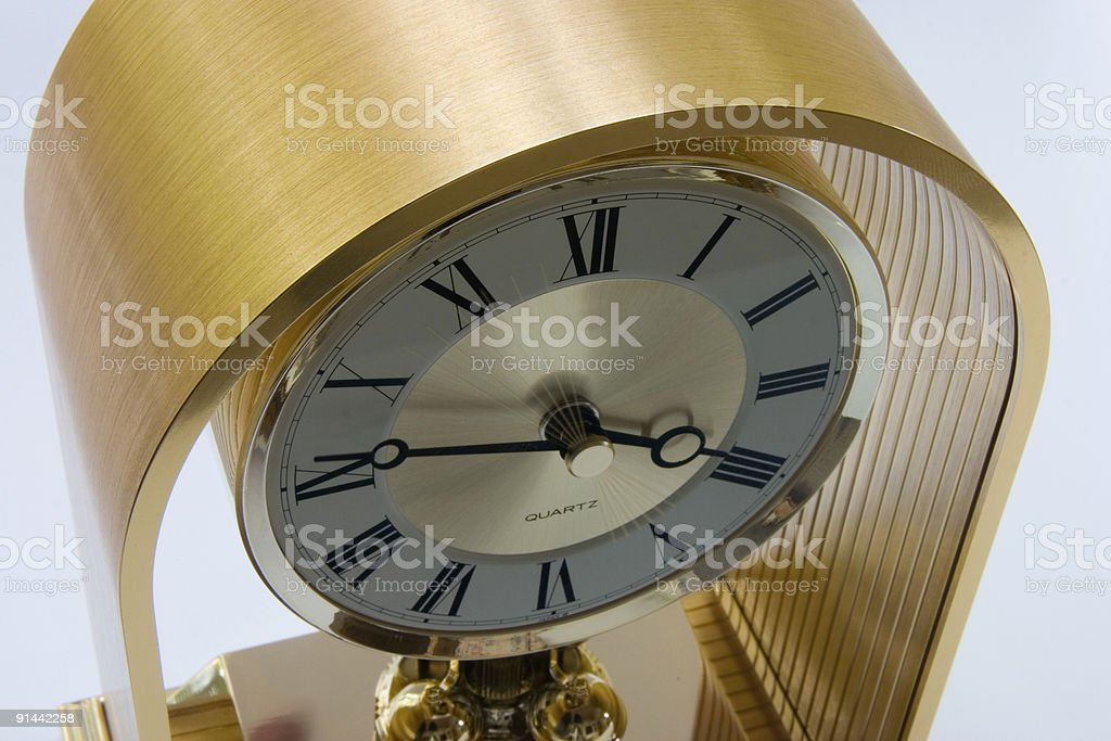 Brass Clock royalty-free stock photo