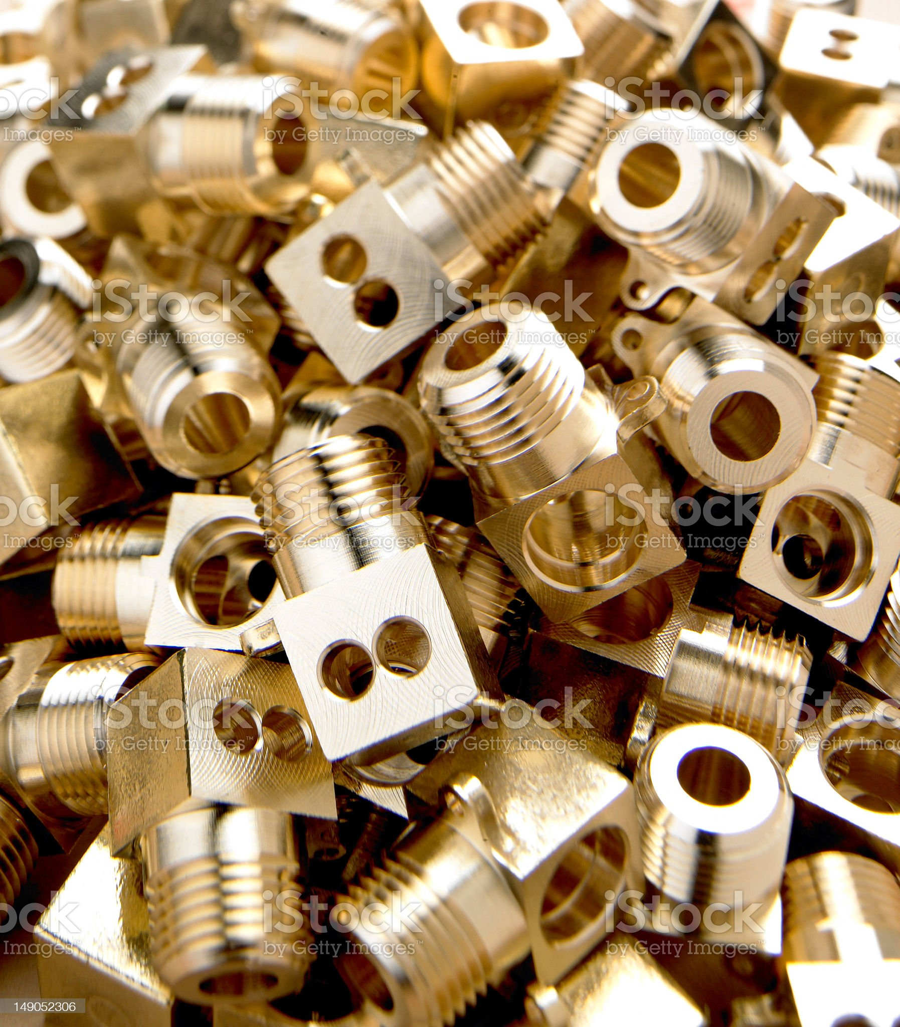Brass Components royalty-free stock photo