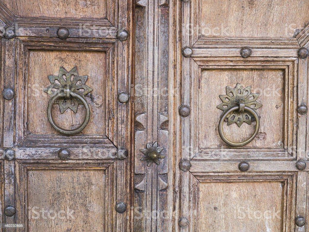 brass door knob stock photo