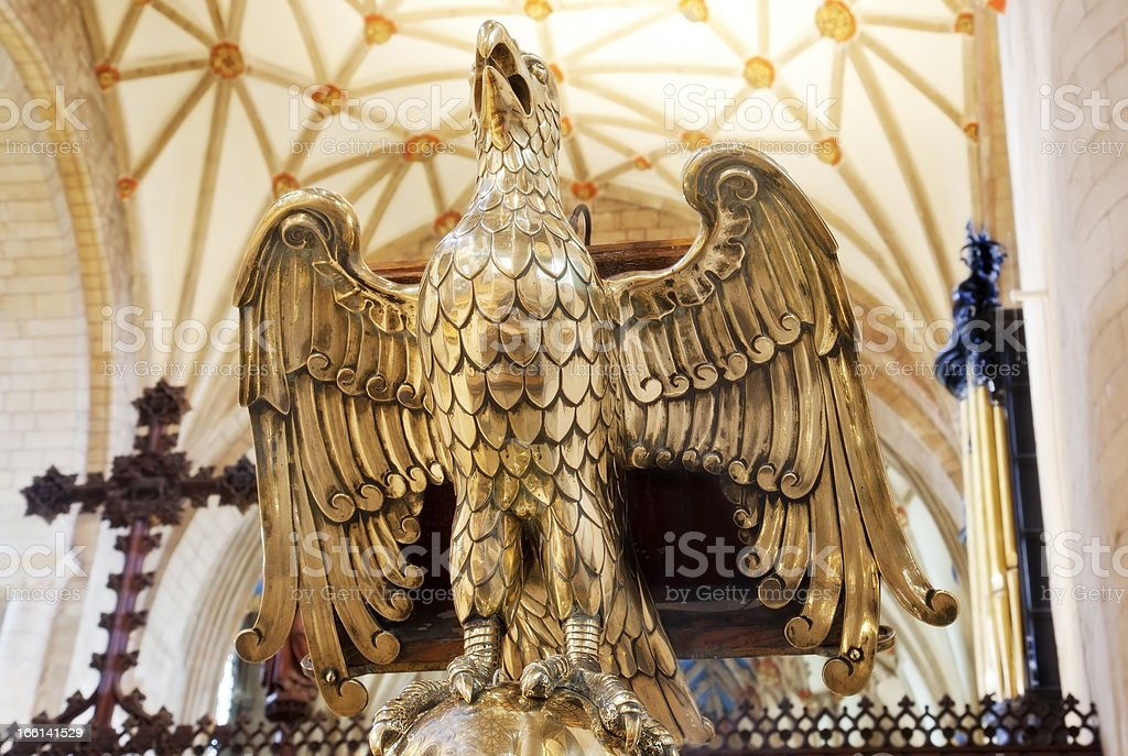 Brass Eagle Lectern stock photo