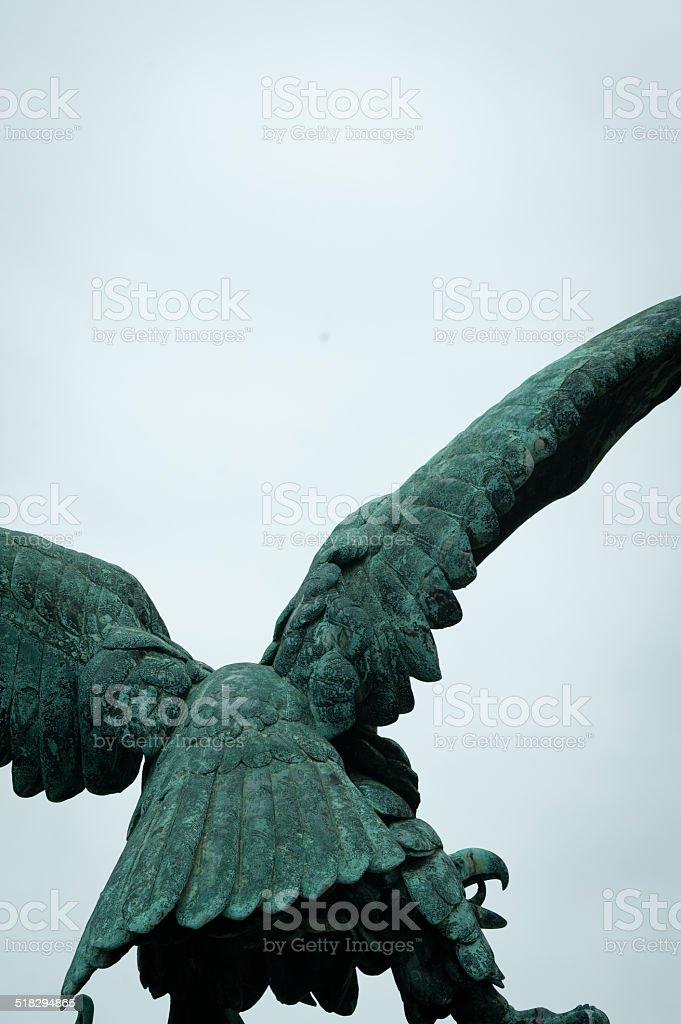 brass eagle statue stock photo