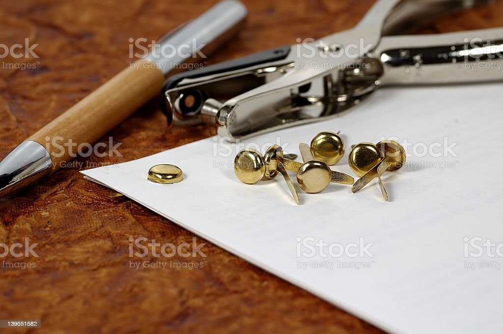 Brass Fasteners royalty-free stock photo