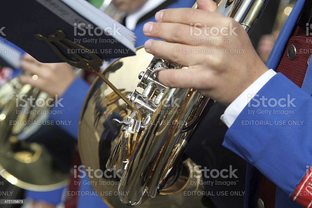 Brass Instrument Oktoberfest stock photo