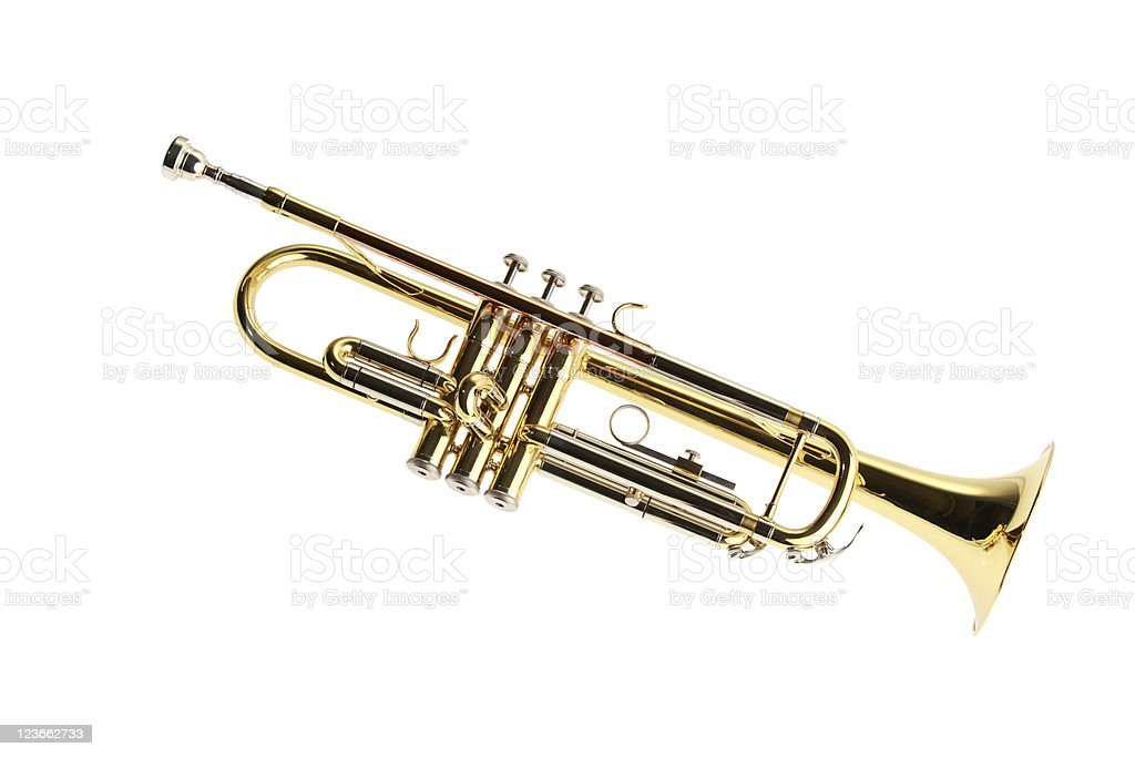 Brass instrument - trumpet royalty-free stock photo