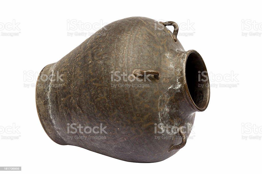Brass jar royalty-free stock photo