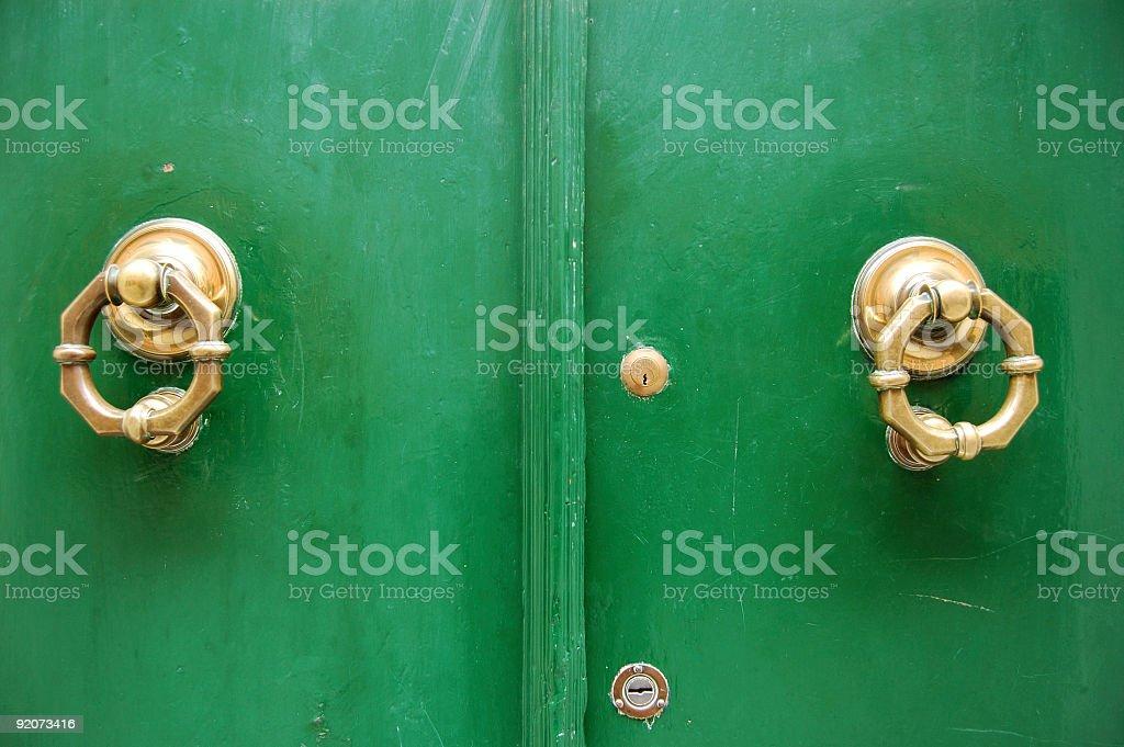 Brass Knockers royalty-free stock photo