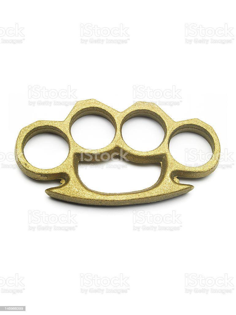 Brass Knuckles royalty-free stock photo