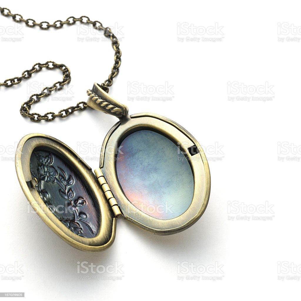 Brass locket royalty-free stock photo