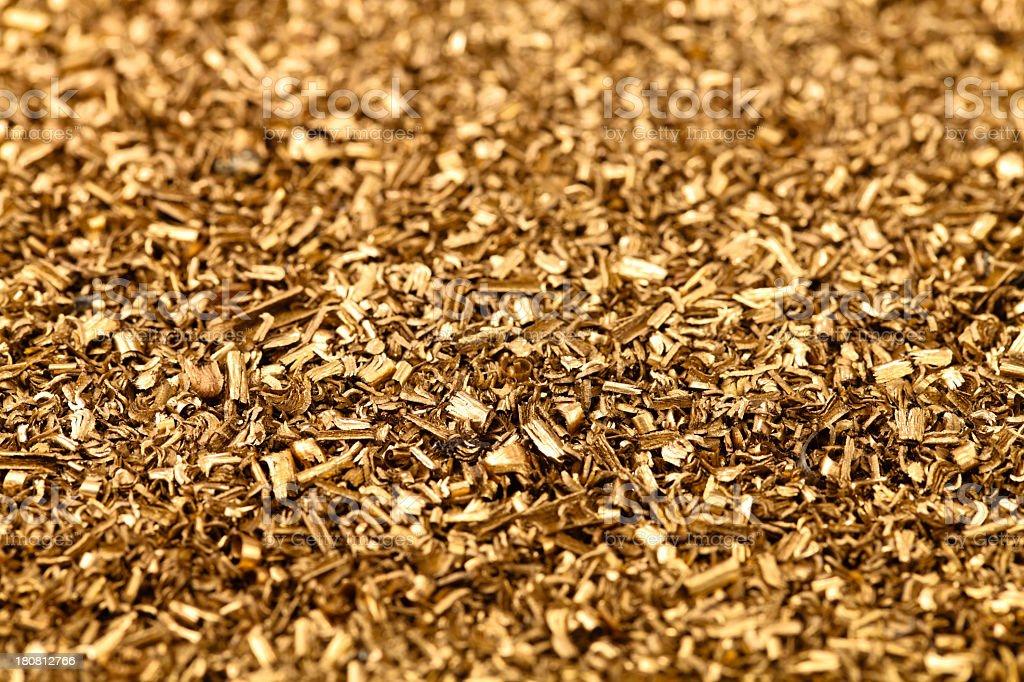brass metal shavings royalty-free stock photo