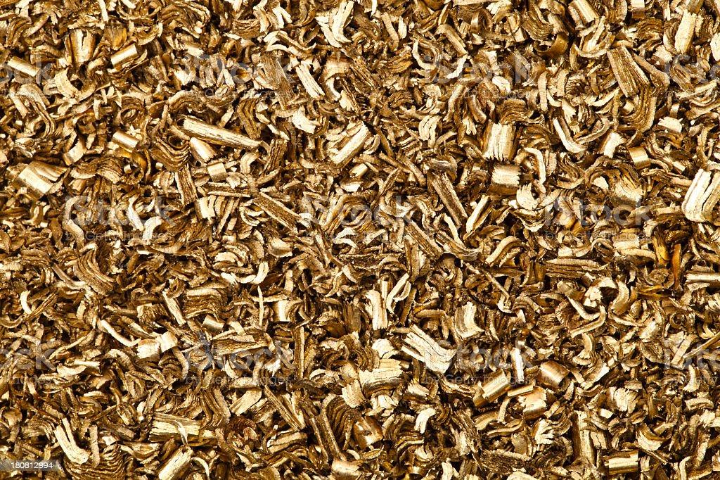 brass metal shavings. royalty-free stock photo