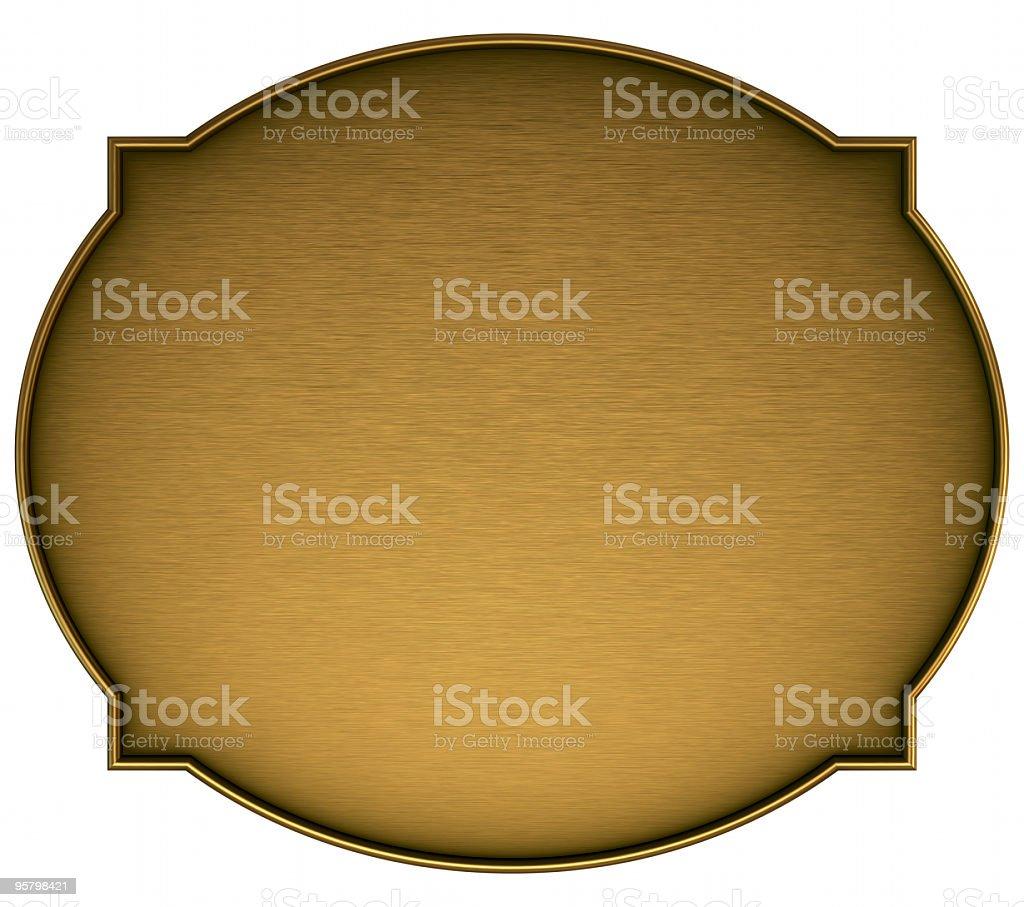 Brass nameplate royalty-free stock photo