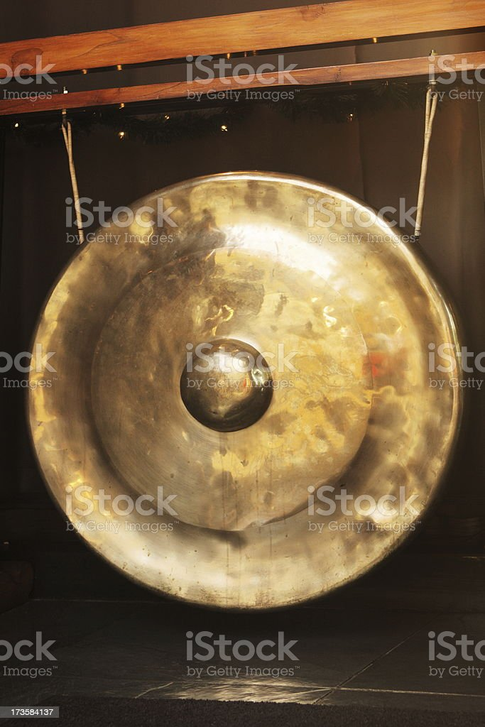 Brass Nipple Gong Asian Instrument royalty-free stock photo