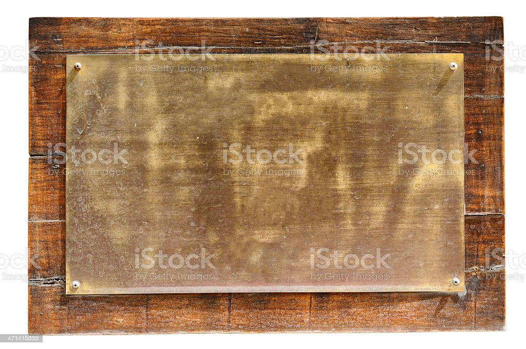 Brass on wood royalty-free stock vector art