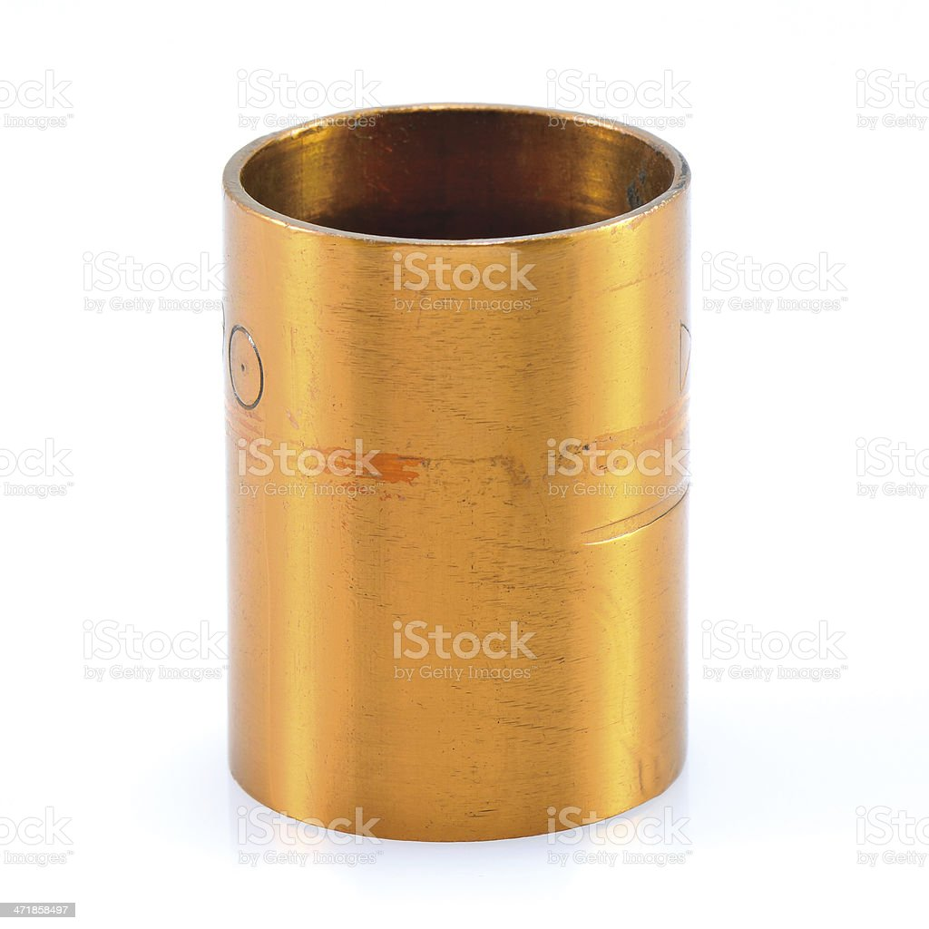 Brass pipe, Copper royalty-free stock photo