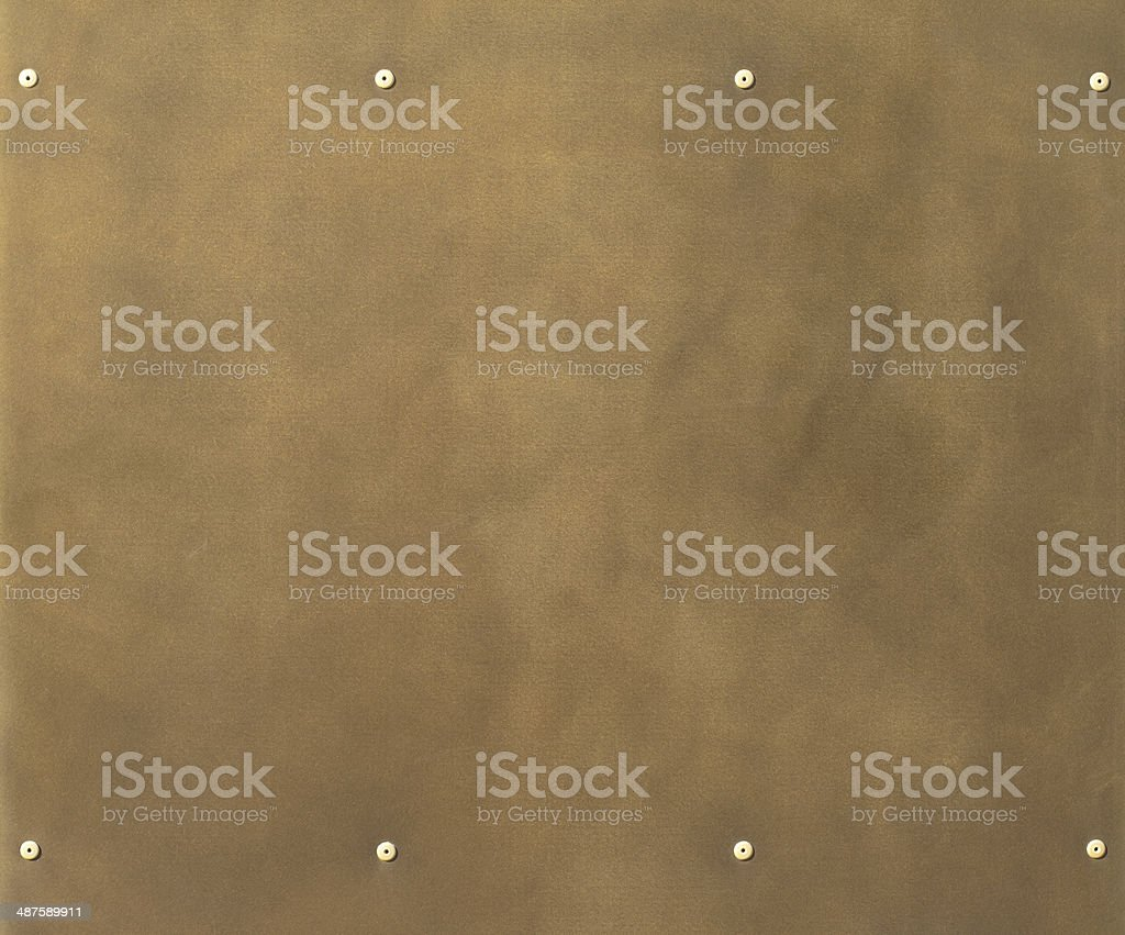 Brass plate stock photo