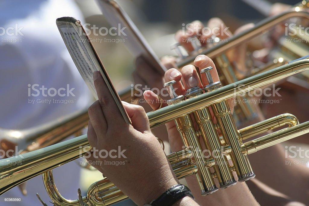 Brass player royalty-free stock photo