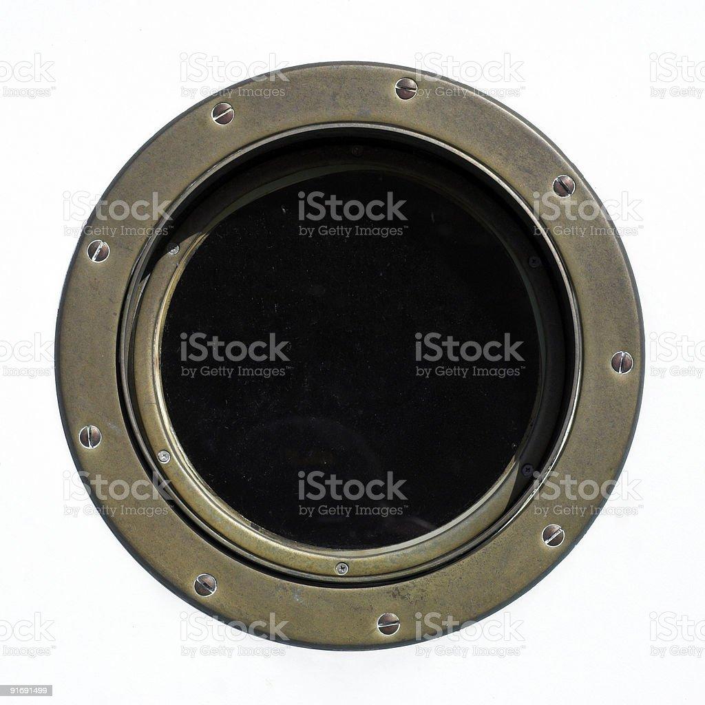 Brass porthole royalty-free stock photo