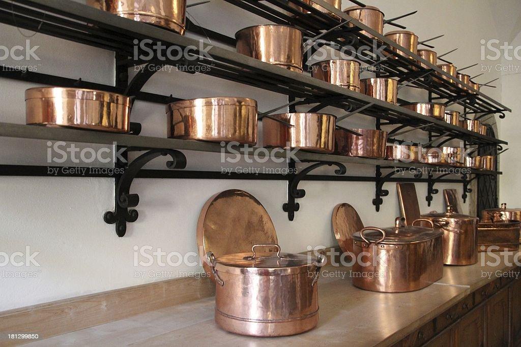 brass pot cook Messing topf Sch?ssel kochen royalty-free stock photo