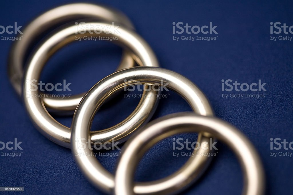 Brass Rings royalty-free stock photo