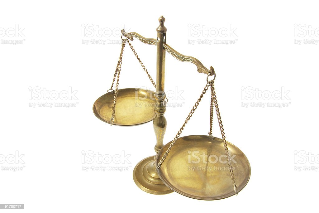Brass Scale royalty-free stock photo