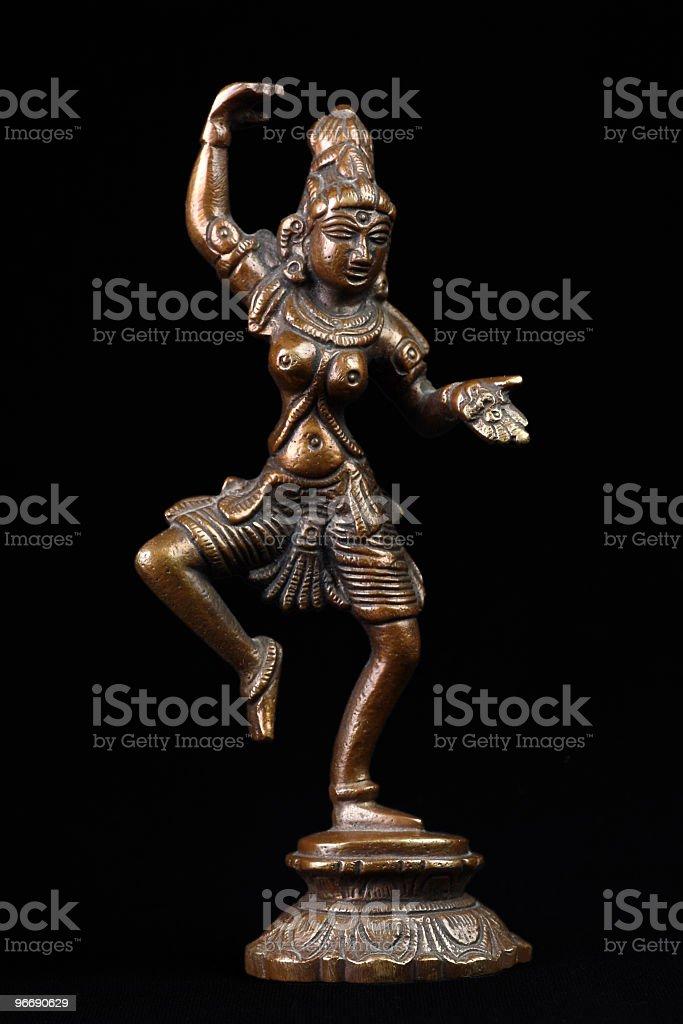 Brass sculpture of Shiva stock photo