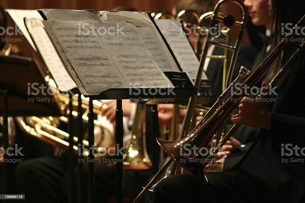 Brass Section stock photo