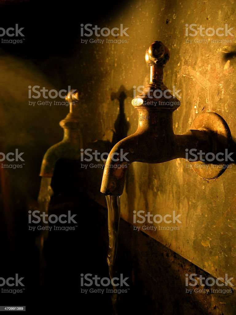 Brass Sink Faucets royalty-free stock photo