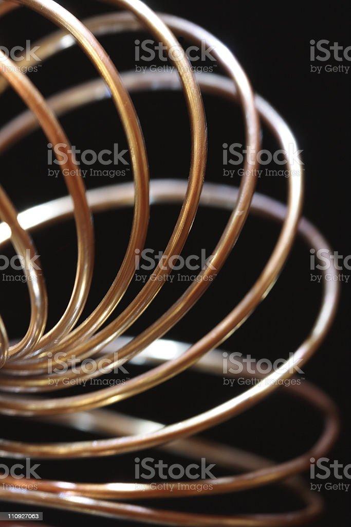 Brass Spring royalty-free stock photo