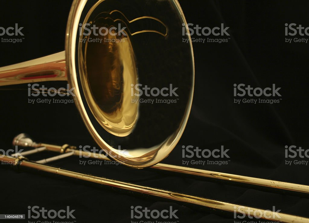 brass trombone stock photo