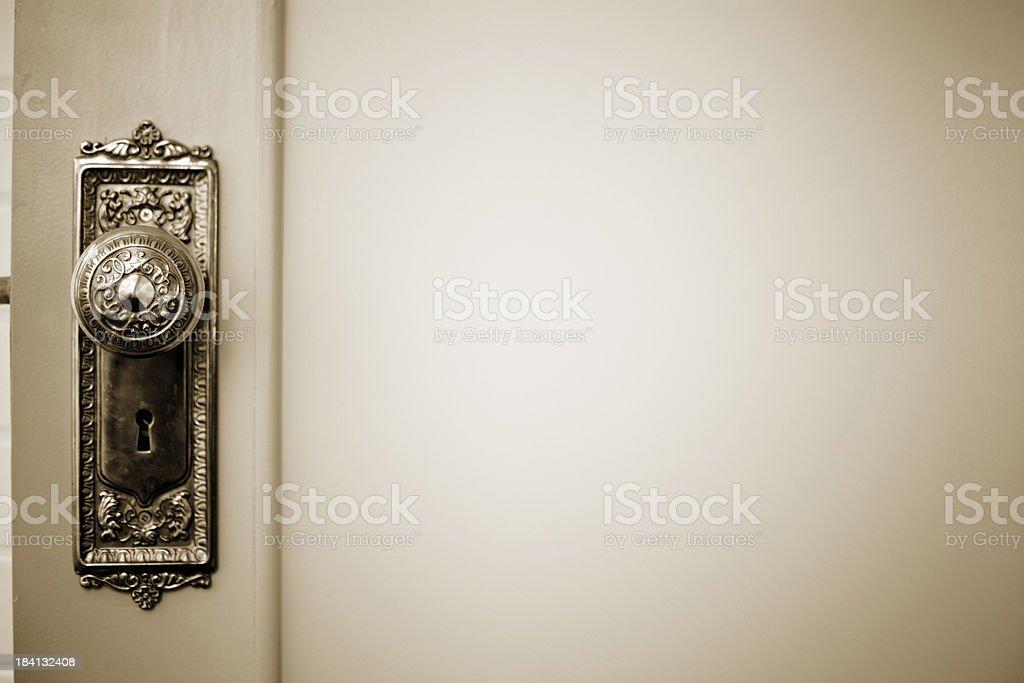 Brass Vintage Door Knob stock photo