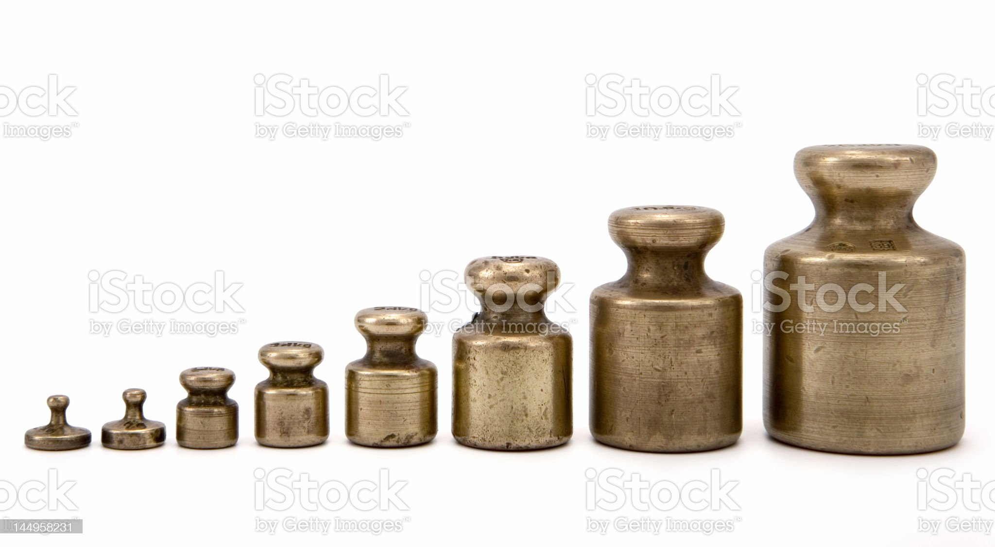 Brass weights royalty-free stock photo