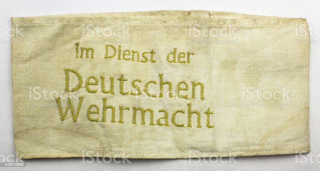 Brassard combattant ?tranger Wehrmacht stock photo