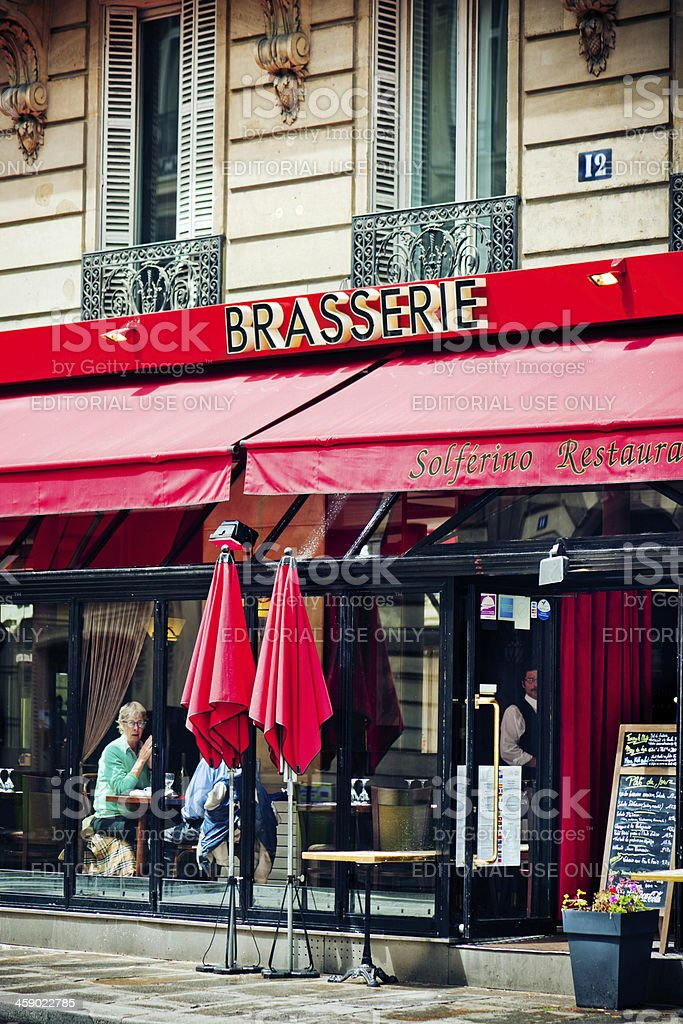 Brasserie in Paris royalty-free stock photo