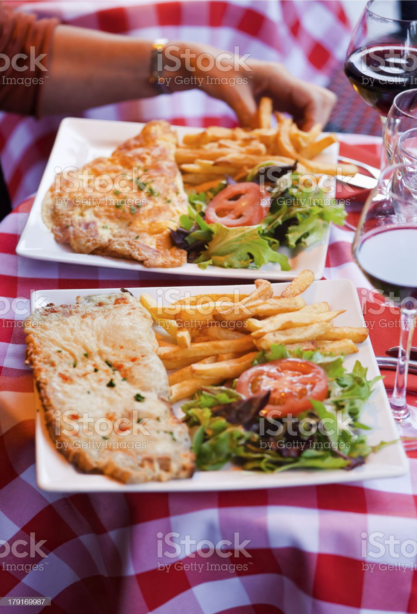 Brasserie Lunch in Paris royalty-free stock photo