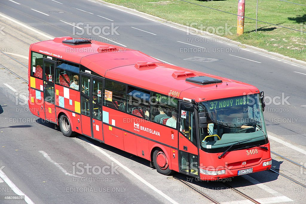 Bratislava bus royalty-free stock photo