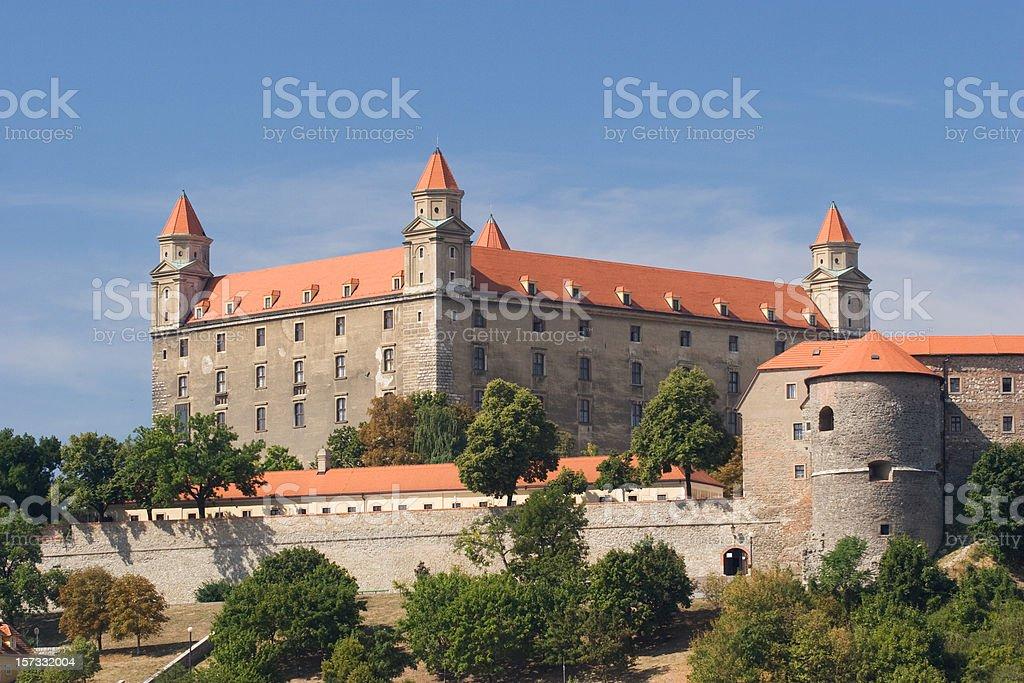 Bratislava Castle from Downtown stock photo