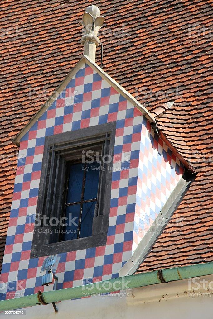 bratislava - decorated window stock photo