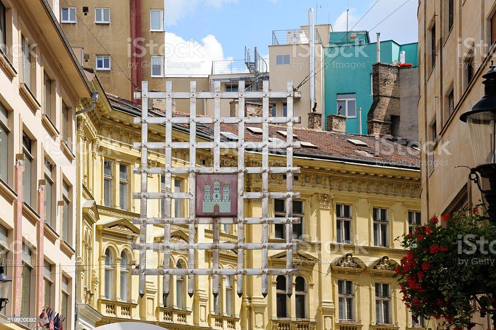 Bratislava Laurinc Gate portcullis stock photo