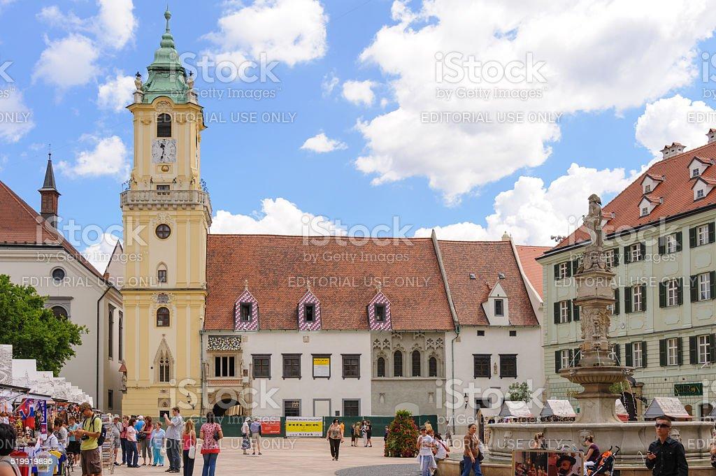 Bratislava Old Town Hall stock photo