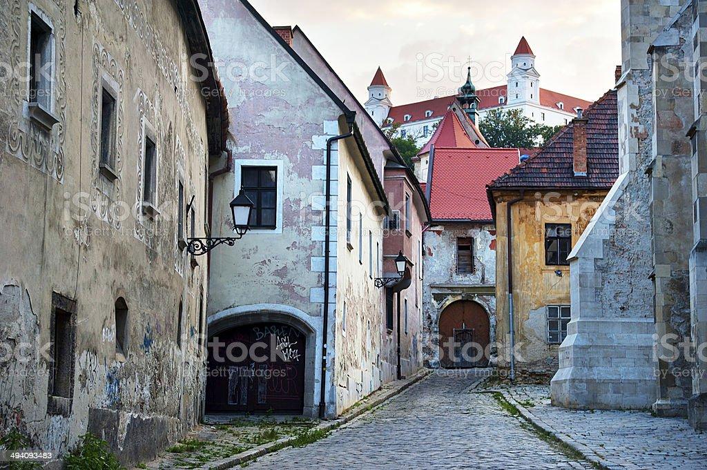 Bratislava old town stock photo