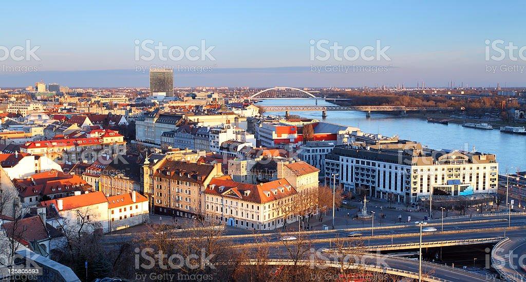 Bratislava overview stock photo